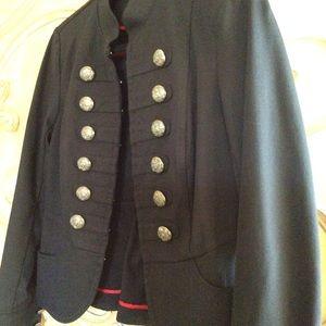 Inc. military style blazer Sz M